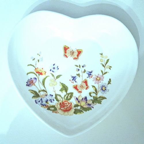 Aynsley Cottage Garden Heart Tray